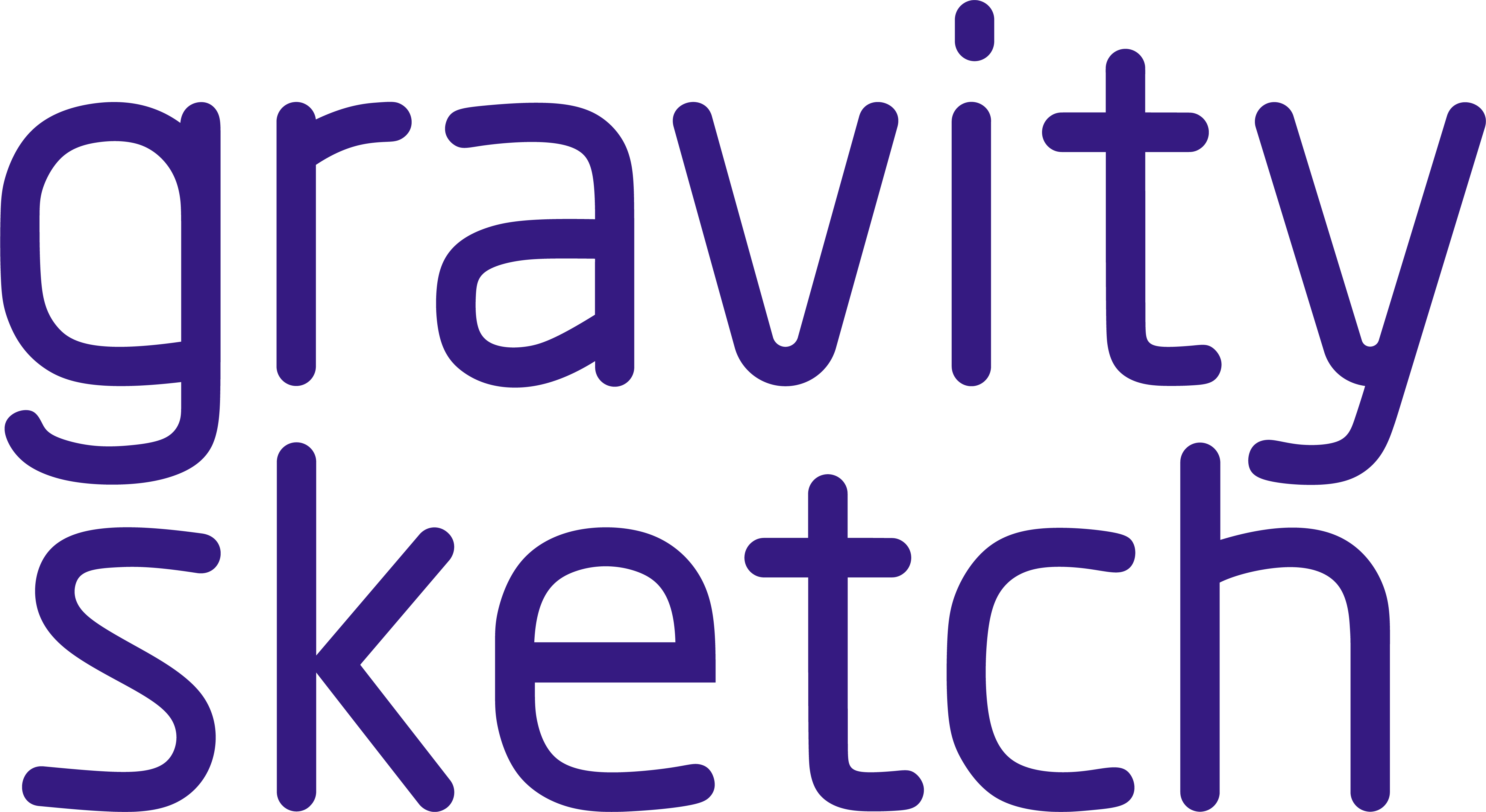 Gravity Sketch Text Purple