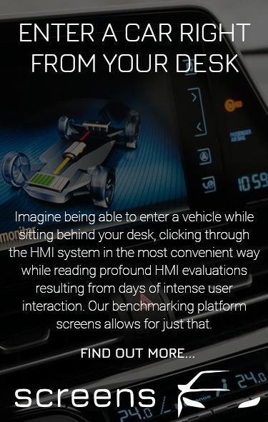 Screens - enter a car right from your desk